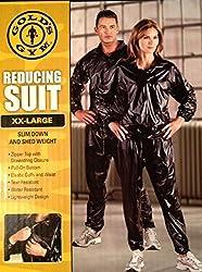 Gold's Gym Zipper Top Reducing Suit (Sauna Suit), XX-Large