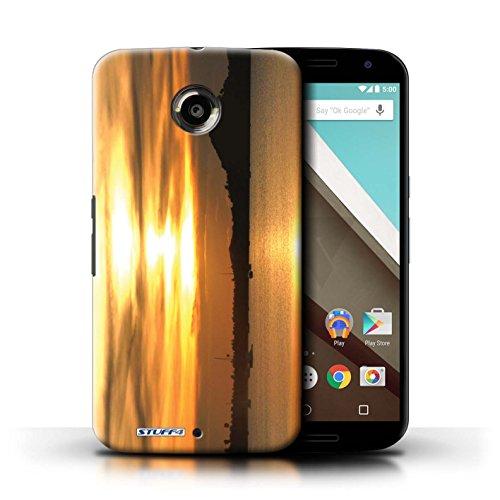 Kobalt® Imprimé Etui / Coque pour Motorola Nexus 6 / Bleu Chêne conception / Série Coucher du Soleil bateaux