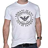 Armani Jeans Round Neck T-Shirt For Men White