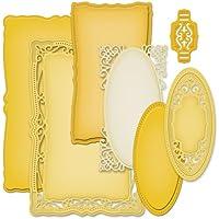 Spellbinders - Fustelle decorative di forme geometriche varie, colore oro