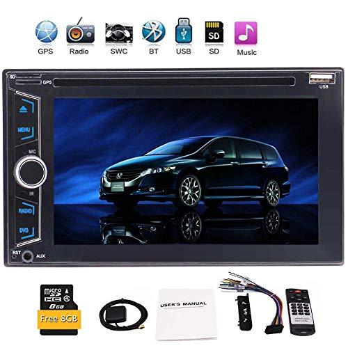 GPS-Navigationssystem mit freiem 8GB Navi Map Karte Double 2 din in Dash-Steuerger?t Auto-DVD-CD-Player GPS-Auto-Stereoradio Autoradio Unterstützung Bluetooth USB SD Video Audio + Fernbedienung