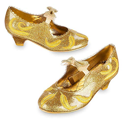 Disney Belle Deluxe Costume Shoes for Kids - Live Action Film Size ()