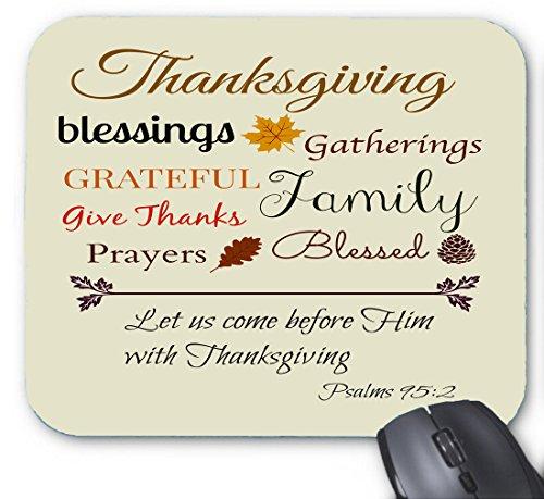 Thanksgiving-Bibel versieht Lob Mauspad 9,84 x 11,8 Zoll