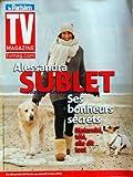 TV MAGAZINE LE PARISIEN [No 20991] du 24/02/2012 - ALESSANDRA SUBLET - SES BONHEURS SECRETS