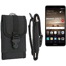 bolsa del cinturón / funda para Huawei Mate 9, negro | caja del teléfono cubierta protectora bolso - K-S-Trade (TM)