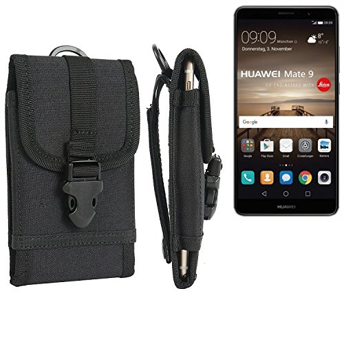 K-S-Trade Handyhülle für Huawei Mate 9 (Dual-SIM) Gürteltasche Handytasche Gürtel Tasche Schutzhülle Robuste Handy Schutz Hülle Tasche Outdoor schwarz