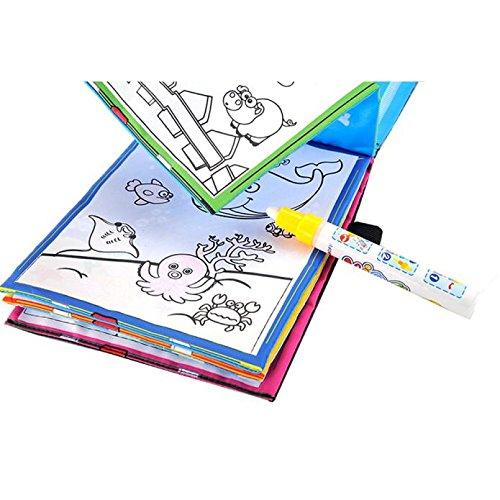 Kinder Zeichnung Buch, Huihong Lustige Magie Wasser Zeichnung FäRbung Buch Doodle Magie Stift Tiere...