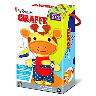 C.S. Kids SA04 Magic World Sewing Kit, Giraffe, Year 1 to 5 Art and Craft Supplies with Easy Instruction
