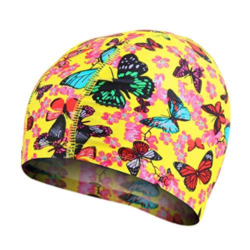 Cuffie da NuotoDonneElasticheTessuto per Bambini Animal Proteggere Cuffie da Piscina per Ragazzi Cuffie Hat, C