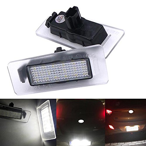 PolarLander 18 SMD 2 Kein Fehler Auto Styling LED Kennzeichenbeleuchtung Auto Hinten Nummernschild Lampe ersatz (Kia 2011 Forte Koup)