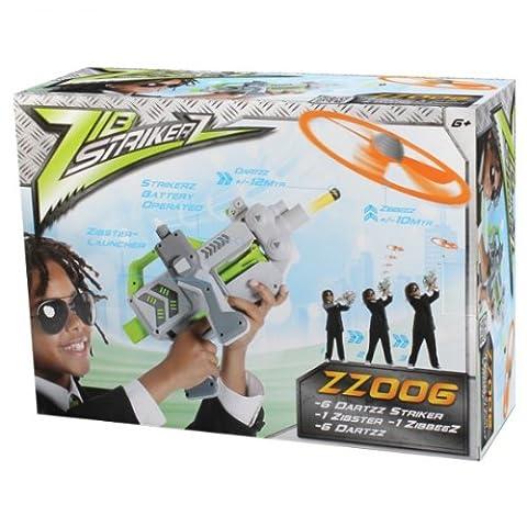 Zib StrikerZ ZZ006 Spielzeugpistole Tontaubenschießen für 1 bis 2 Spieler ab 6 Jahren NEU (Tontaubenschießen Guns)