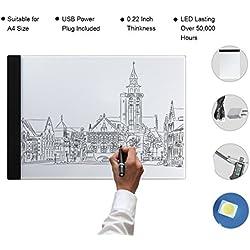Tableta de Luz, Yeeteem Tablero de Trazado Digital, Tamaño A4 , Mesa de Luz