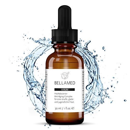 BellaMed - Vitamin C Serum | Hochdosiert | mit Hyaluronsäure + Aloe Vera | Veganes, natürliches Anti-Aging + Anti-Falten Gesichtsserum...