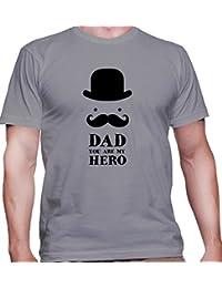 Camiseta para hombre con la impresión del Papa, usted es mi heroe .