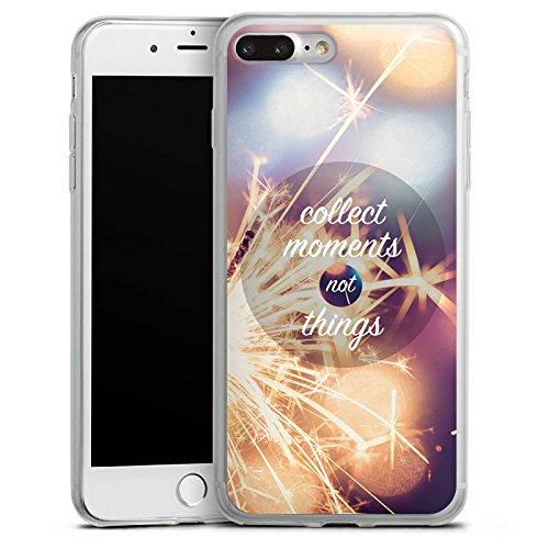 Apple iPhone 8 Slim Case Silikon Hülle Schutzhülle Momente Sprüche Statement Silikon Slim Case transparent