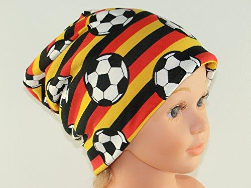 Fußball-elasthan-hut (Beanie KU.51/53 - Kinder Mütze Mitwachsmütze - Motiv: Fußball)