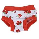 Vêtement Pantalon Culotte Couche Femelle Animal Chien Pour Menstrues - S