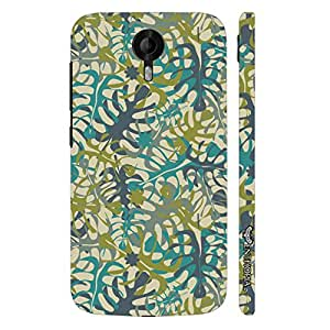 Micromax Canvas Nitro 3 E455 Leaved Patch designer mobile hard shell case by Enthopia
