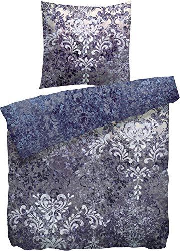 Heckett Lane - Juego de Cama (100% algodón, 135 x 200 cm y 80 x 80 cm), Color Azul