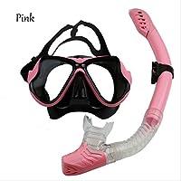Paquete De Buceo Adulto Anti-Niebla Gafas De Buceo MáScara De Snorkeling Completamente Seca , pink , B