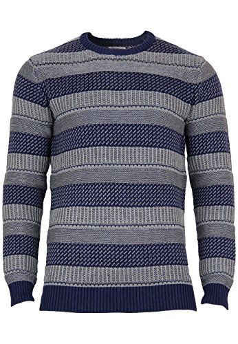 Jack & Jones Herren Kic Knit Crewneck Dress Blues