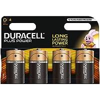 Duracell Plus Power Piles Alcalines type D, Lot de 4