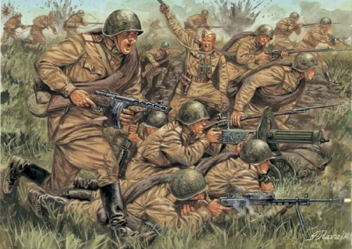 Italeri 6057 - wwii  russian infantry scala 1:72