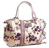 Cath Kidston - Mini borsa da giorno York Bunch, in tela cerata, colore: Crema