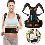 Magnetic Therapy Posture Corrector, SGODDE Breathable Neoprene Upper Back Brace, Adjustable Lumbar Shoulder