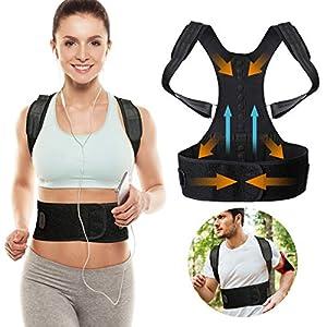 SGODDE Haltungstrainer,Geradehalter zur Haltungskorrektur Rückentrainer Schulter Rückenstütze,Schultergurt gegen Nacken -und Schulterschmerzen für Gerader Rücken für Damen Herren