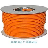 Bobine 100 m Gigabit cuivre, sans halogène Câble Ethernet Cat 7 1000 MHz