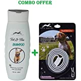 Pets Empire Dog And Cat Shampoo (Tick Flea, 200 ML) + Pets Empire Flea & Tick Collar For Pet