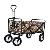Faltbarer Bollerwagen Handwagen mit 4 Rädern Tarnfarbe Waschbar Oxford-Tuch Faltbar Stahlrohr Draussen Einkaufen, 85 X 50 X 28 cm (Farbe : 2#)