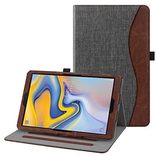 Fintie Hülle kompatibel mit Samsung Galaxy Tab A 10.5 2018 - Multi-Winkel Betrachtung Kunstleder Schutzhülle mit Auto Schlaf/Wach Funktion für Galaxy Tab A (10.5 Zoll) SM-T590/T595 Tablet, dunkelgrau