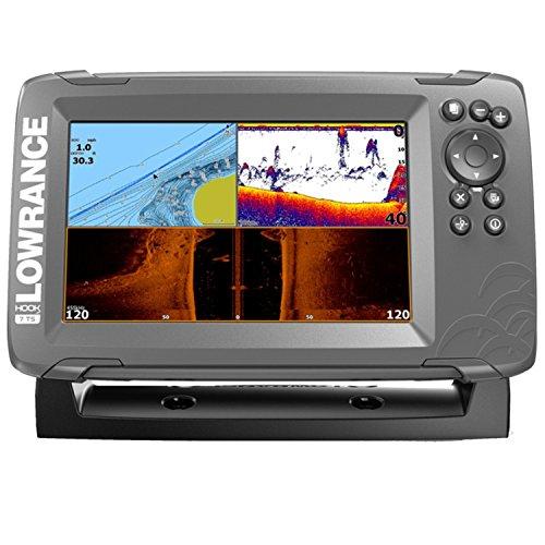 Lowrance 000-14022-001 Hook2 GPS Tripleshot, Fischfinder, 17,78 cm (7 Zoll) Schwarz