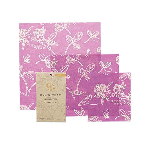 Bee's Wrap Wachspapier, Set mit 3Stück, Verschiedene Größen, Violett -