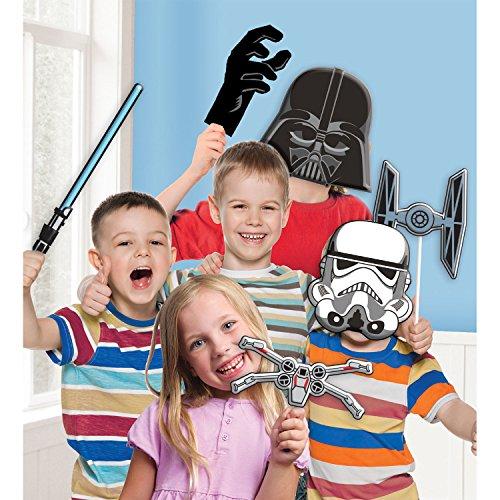 Amscan 9903094 Star Wars Fotorequisiten-Set, Mehrfarbig