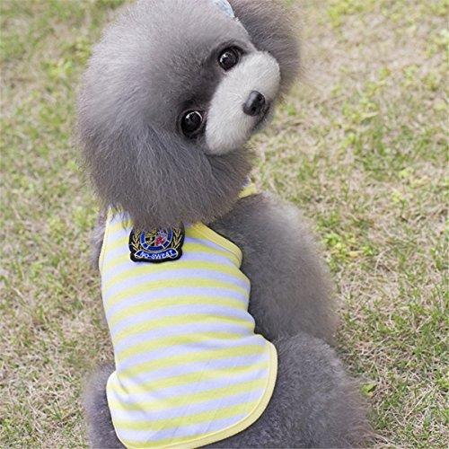 Tutoy Baumwolle Gestreiftes Kleines Haustier-Welpen-Hundet-Shirt Weste Kleidet Sommer-Kleid-Kostüm - (Carrier Baby Kostüm Im)