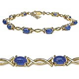 Goldancé - Damen Armband 925 Silber vergoldet Tansanit 19cm B216TA