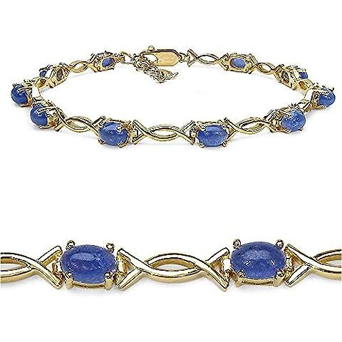 Goldancé - Bracciale da Donna argento sterling 925 placcati in oro vera Tanzanite - B216TAN_SGP