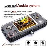 Anbernic Consola de Juegos portátil con 3000 Juegos clásicos incorporados + 2109 Juegos de Sistema de código Abierto, emulador Dual Core 16G 3.0 '' FC TV, Consola de Videojuegos portátil (Black)
