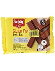 Dr. Schar 03430 - Twin Bar barritas chocolate, paquete de 3 x 21,