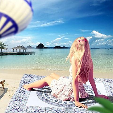 ZycShang Fashion 150x200CM Summer Bohemian Mandala Classic Print Wall Hanging Tapestry Wall Bedspread Beach Towel Mat Blanket