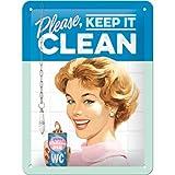 Nostalgic-Art 26211 Say IT 50's - Keep it Clean, Blechschild 15x20 cm