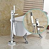 WHFDRHSLT Küchenarmatur Badezimmer Chrom Freistehende Klaue Fuß Badewanne Füllstoff Wasserhahn Boden Wasserhahn