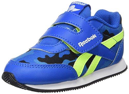 Reebok Unisex Baby Royal Cljog 2GR KC Sneakers, Blau / Schwarz / Gelb (Sport Blau / Schwarz / Solar Gelb / Elec Blau), 25 EU