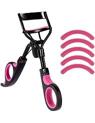 Rovtop Recourbe Cils Professional Recourbe-Cils Pince de Cils Outils de Maquillage Professionnels avec 5 Tampons de Rechange en Silicone, Facile à Utiliser pour Obtenir de Cils Courbes