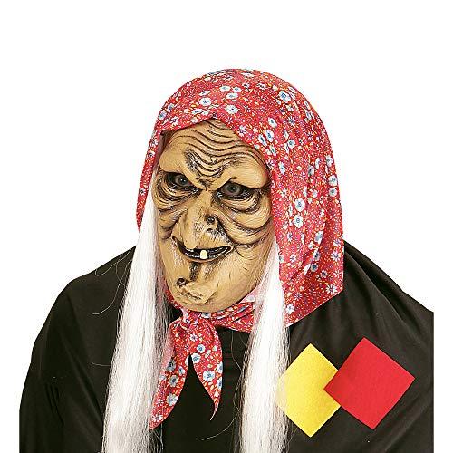 Widmann - Halbmaske Hexe mit Haaren (Spanische Frau Halloween-kostüm)