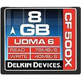 Delkin Compact Flash Speicherkarte (8GB; 500x)