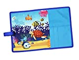 #8: Shopaholic Aquarium Animals Foldable Dinner Placemat For Kids